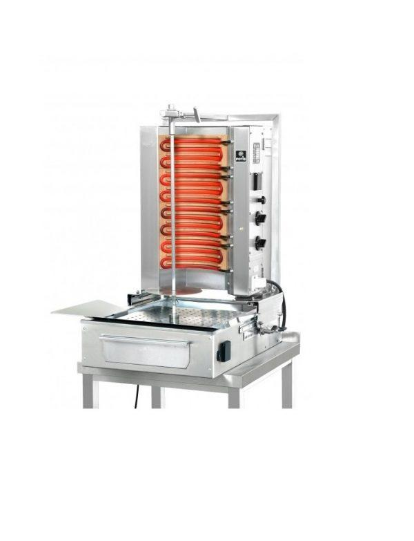 machine a kebab electrique capacite  kilos avec cuve rectangulaire   mm potis