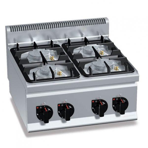 Gas stove burners with pilot flame