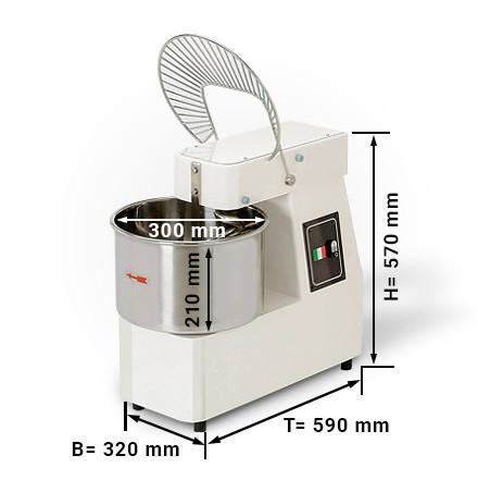 15 litrų spiralinė tešlos maišyklė 238508
